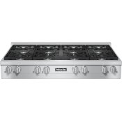 KMR 1354-1 G - RangeTop with 8 burners for professional applications