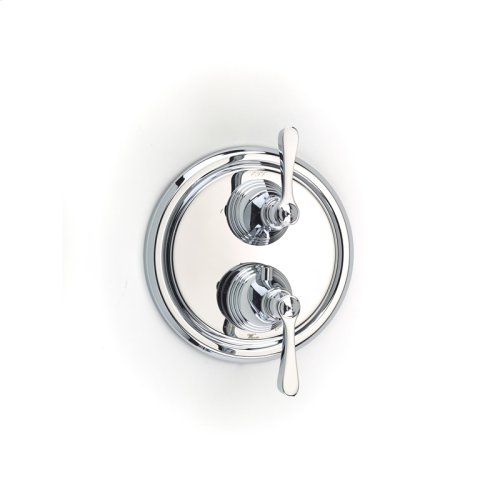 Dual Control Thermostatic With Diverter and Volume Control Valve Trim Berea Series 11 Polished Chrome