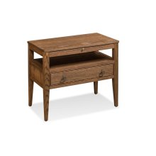 Hamptons Nightstand with Open Cubby