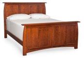 Aspen Panel Bed, Cherry #26 Michael's, Aspen Panel Bed with Inlay, Queen, Cherry