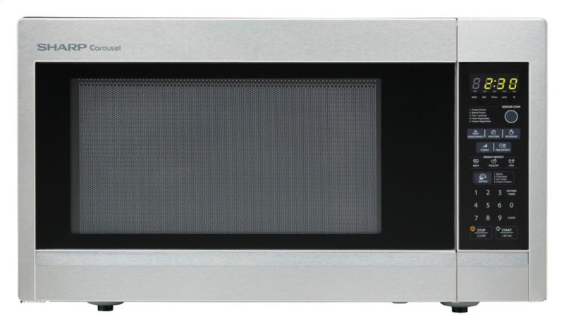 Sharp Carousel Countertop Microwave Oven 1 8 Cu Ft 1100w Stainless Steel