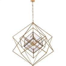 Visual Comfort KW5022G-CG Kelly Wearstler Cubist 5 Light 45 inch Gild Pendant Ceiling Light, Kelly Wearstler, Large, Chandelier, Clear Glass