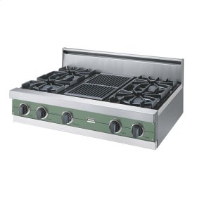 "Mint Julep 36"" Open Burner Rangetop - VGRT (36"" wide, four burners 12"" wide char-grill)"