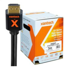 Xantech EX Series Bulk Pack (10) - High-speed HDMI Cable with X-GRIP Technology (3m)