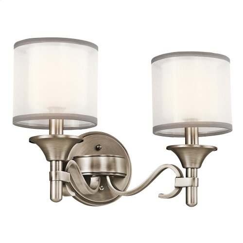 Lacey Collection Lacey 2 Light Bath Light in Antique Pewter