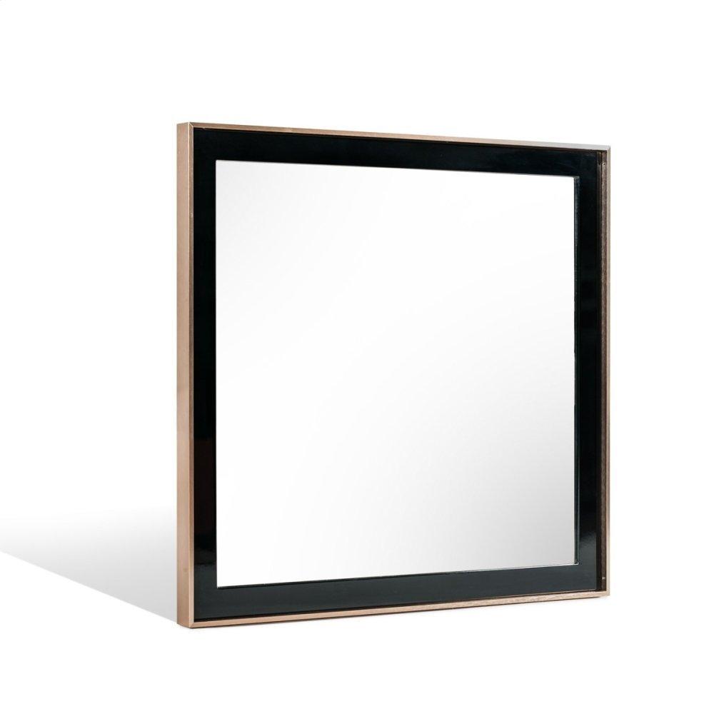 Nova Domus Cartier Modern Black & Brushed Bronze Mirror