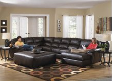 Armless Loveseat - Chestnut
