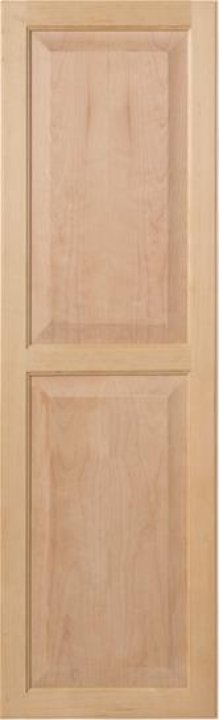 Unfinished Birch raised panel door for ironing center
