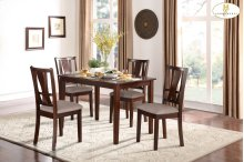 5-Piece Pack Dinette Set Table: 35.25 x 47.25 x 30H Chair: 18 x 19.75 x 38H