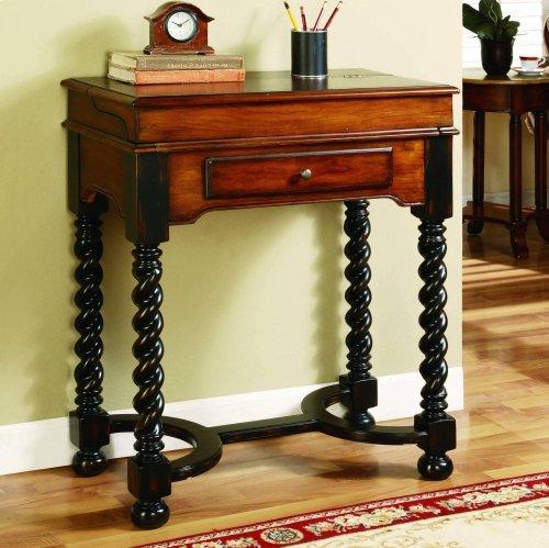 Jacobean Twist Leg Flip Top Writing Desk