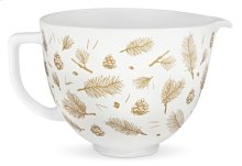 5 Quart Pine and Berries Ceramic Bowl - Other