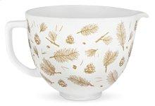 5 Quart Pine and Berries Ceramic Bowl - Other