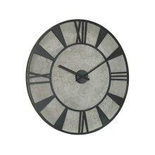 Cement Grey Metal Industrial Wall Clock