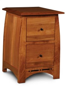 Aspen File Cabinet with Inlay, 2-Drawer