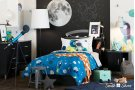 Twin Mates Bed with Cosmic Comforter and Pillowcase - 39'' Product Image