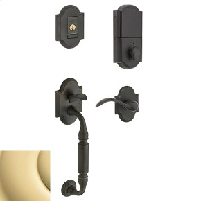 Non-Lacquered Brass Evolved Canterbury Lever Sectional Handleset