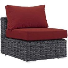 Summon Outdoor Patio Sunbrella® Armless in Canvas Red
