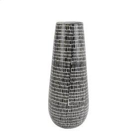 """Ceramic Vase 18"""", Black Cobblestone"""