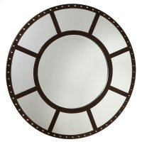 Round Studded Wall Mirror. Product Image