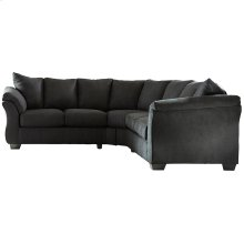 Signature Design by Ashley Darcy Sectional in Black Microfiber [FSD-1109SEC-BLK-GG]