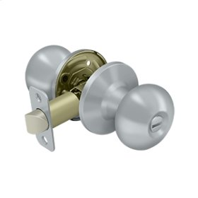 Portland Knob Privacy - Brushed Chrome