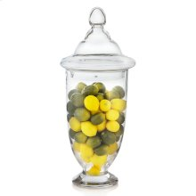Lemons & Limes In Tall Glass Apothecary Jar