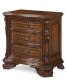 Old World Wood Top Bedside Chest Product Image