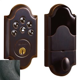 Distressed Oil-Rubbed Bronze Boulder Electronic Deadbolt