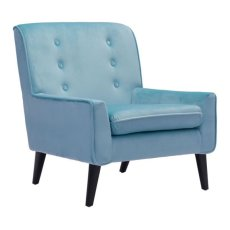 Coney Arm Chair Aqua Velvet Product Image