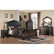 Maddison Brown Cherry King Four-piece Bedroom Set