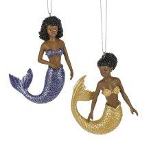Mermaid Ornament. (12 pc. ppk.)