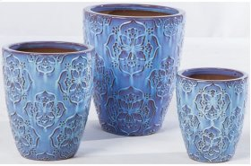Lavender Lace Planter - Set of 3
