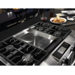 Kitchenaid 36'' 4-Burner With Griddle, Dual Fuel Freestanding Range, Commercial-Style - Stainless Steel