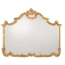 BAROQUE HAND CARVED OVERMANTEL MIRROR