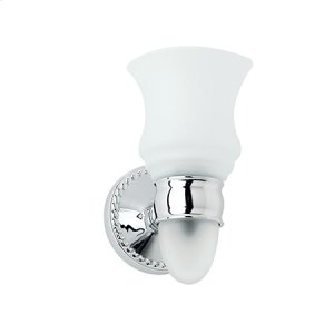 Satin Nickel Single Light with Nightlight Option