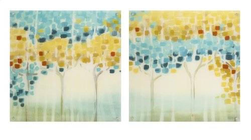 Forest Mosaic Acrylic Floating Wall Art - Ast 2