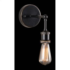 Antique Black Gold & Copper Miserite Wall Lamp Product Image