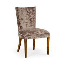 Biedermeier Style Walnut Dining Side Chair (Truffle)