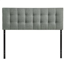 Lily Queen Upholstered Fabric Headboard in Gray