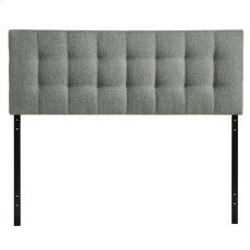 Lily Queen Upholstered Fabric Headboard in Gray Product Image