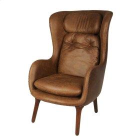 Ellison KD Chair Dark Brown Legs, Nubuck Brown/Distressed Coffee