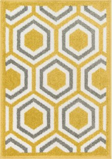 Citron / Grey Rug