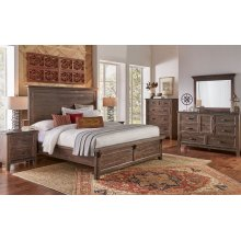 MARQUEZ King Panel Bed