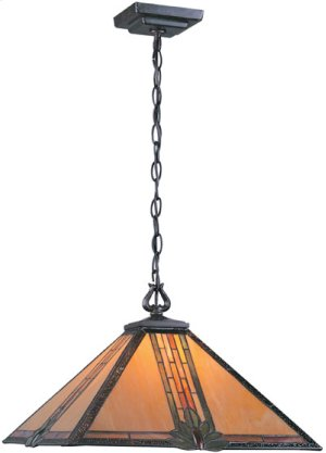 Ceiling Lamp, A/bronze W/tiffany Shade, Type A 150w