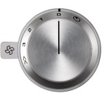 GaggenauVario control knob ventilation 400 series AA 490 711 Stainless steel