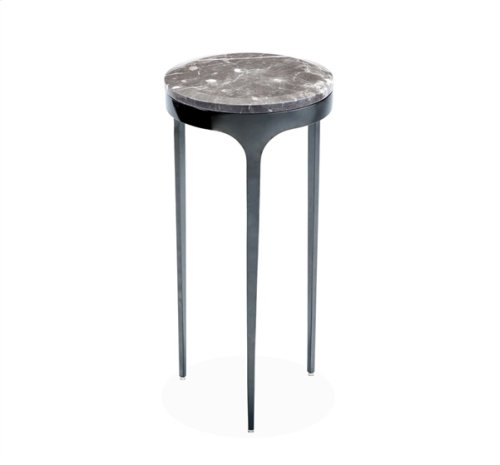 Camilla Drink Table - Italian Grey/ Gunmetal