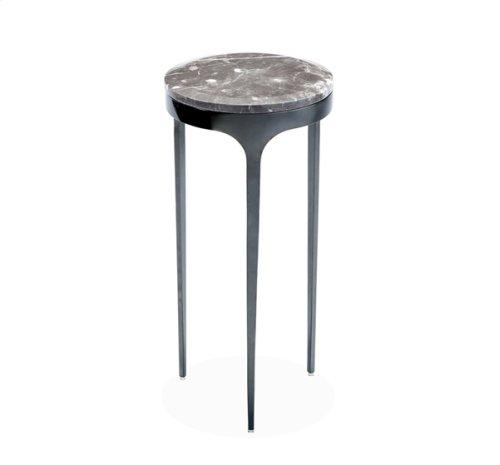 Camilla Drink Table - Italian Grey/ Gunmetal