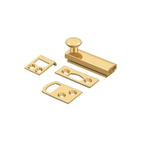 """2"""" Surface Bolt, Concealed Screw, HD - PVD Polished Brass"""