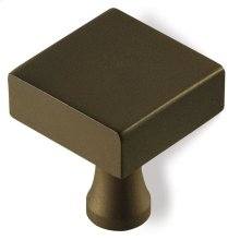 "1 1/4"" Square Knob - Oil Rubbed Bronze"