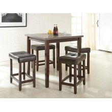 5Pc Counter Height Set
